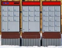 Städtische Post-Kästen Stockfoto