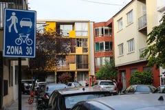 Städtische Schönheit von Santiago stockbild