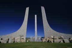 Städtische Skulptur in Braganza, Portugal Europa Stockbild