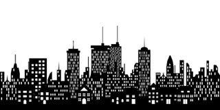 Städtische Skyline einer Stadt Lizenzfreies Stockfoto
