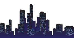 Städtische Stadt am Nachthintergrund Lizenzfreies Stockbild