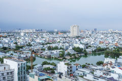 Städtische Stadt-Skyline, Ho Chi Minh Stadt, Vietnam lizenzfreies stockfoto