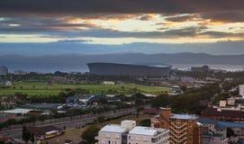 Städtische Stadtskyline, Cape Town, Südafrika. stockfotografie