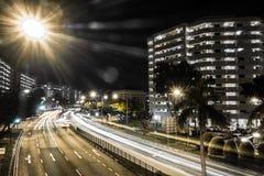 Städtische Straßen Singapurs Stockbild