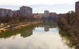 Städtische Szene in Valladolid stockbilder