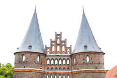 Städtische Tür von Lübeck, deutsch Lizenzfreies Stockfoto