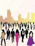 Städtische Völker und Stadt Lizenzfreie Stockfotos