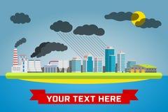 Städtische Verschmutzungslandschaft vektor abbildung