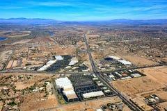 Städtische Wüsten-Landschaft stockfotografie