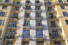 Städtische Wohnungen Stockfoto