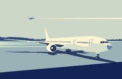 Städtischer Flughafen stock abbildung
