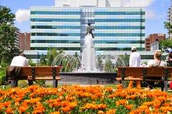 Städtischer grüner Platz Lizenzfreie Stockbilder