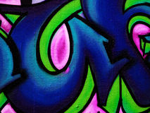 Städtischer Graffitiauszug Lizenzfreie Stockfotografie