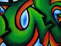 Städtischer Graffitiauszug Stockfotografie