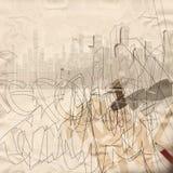 Städtischer Grunge Hintergrund Lizenzfreies Stockbild
