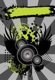 Städtischer grungy Musikhintergrund mit Platz für Text Stockfoto