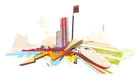 Städtischer Hintergrund Lizenzfreies Stockbild