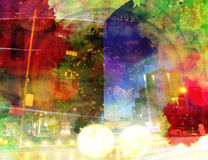 Städtischer Hippie-Hintergrund vektor abbildung