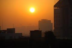 städtischer Morgen Lizenzfreie Stockfotos