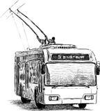 Städtischer Oberleitungsbus Lizenzfreie Stockbilder