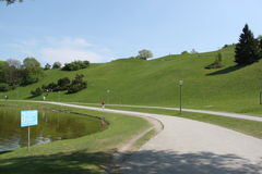 Städtischer Park Stockbild