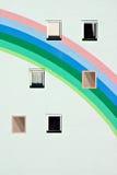 Städtischer Regenbogen Stockfoto