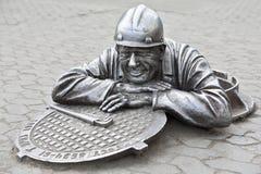 Städtischer Skulpturklempner Stepanych Lizenzfreie Stockbilder
