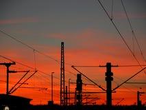 Städtischer Sonnenaufgang Stockfoto