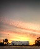 Städtischer Sonnenaufgang Lizenzfreies Stockbild