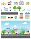 Städtischer Straßen-Satz Lizenzfreie Stockbilder