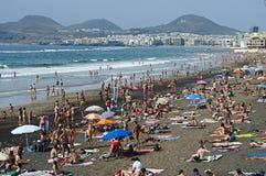 Städtischer Strand Stockfotos