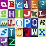 Städtisches Alphabet Stockfoto