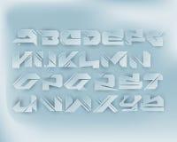 Städtisches Digital-Graffiti-Alphabet eingestellt - Papier-Schnitt Lizenzfreie Stockbilder