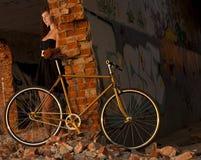 Städtisches Fahrrad u. Mädchen Stockfotografie