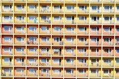 Städtisches Gebäude, Hausmuster Stockbild