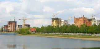 Städtisches Gebäude von hohen Gebäuden Stockbild