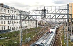 Städtisches Gleis Stockfoto