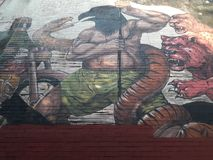 Städtisches graphiti in Mexiko- Citymegapolis lizenzfreie stockfotografie