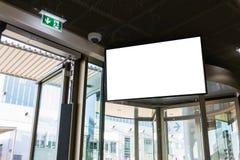 Städtisches leeres Anzeigen-Raum-Weiß lokalisiertes Schirm-Zeichen Adverising Commu Lizenzfreies Stockbild
