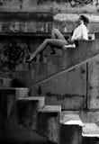 Städtisches reizvolles Mädchen Stockbild