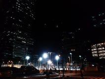 Städtisches Stadt-Nachtstraßenlaterne lizenzfreies stockfoto