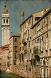 Städtisches szenisches von Venedig - Weinlese Lizenzfreies Stockbild