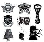 Ställ in öllogoen, etiketten, emblem Fotografering för Bildbyråer