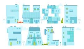 Ställ in arkitektur som bygger symbol Bokstav-hus Diagrammen för baner och advertizing Shoppa rabatter Royaltyfria Foton