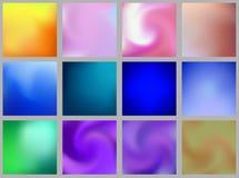 Ställ in av abstrakt färgrik suddig bakgrund för lutningingreppsvektor Beståndsdel för din website, presentation, app och annan _ royaltyfri illustrationer