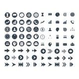 Ställ in av affärs- och teknologisymbol royaltyfri illustrationer
