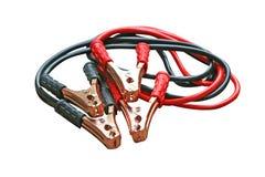 Ställ in av batteriuppladdare i bilen som isoleras på vit bakgrund arkivfoton