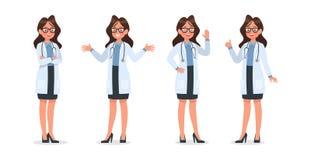 Ställ in av doktorsteckendesign no11 stock illustrationer