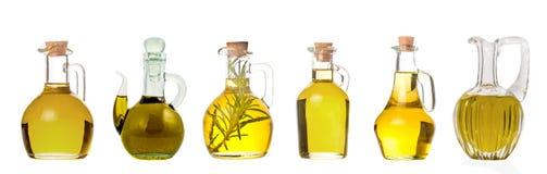 Ställ in av extra jungfruliga olivoljakrus isolerat royaltyfri foto