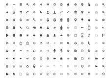 Ställ in av 150 gemensamma symboler vektor illustrationer